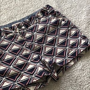 Merona Red White and Blue Patterned Shorts